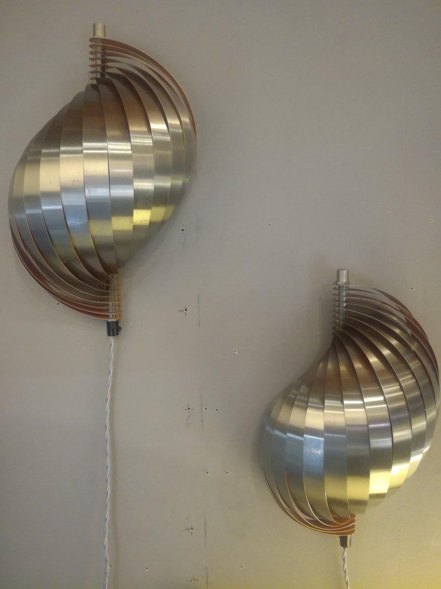 Wandlampen von René Mathieu für Mathieu Lustrerie, 1962, 2er Set