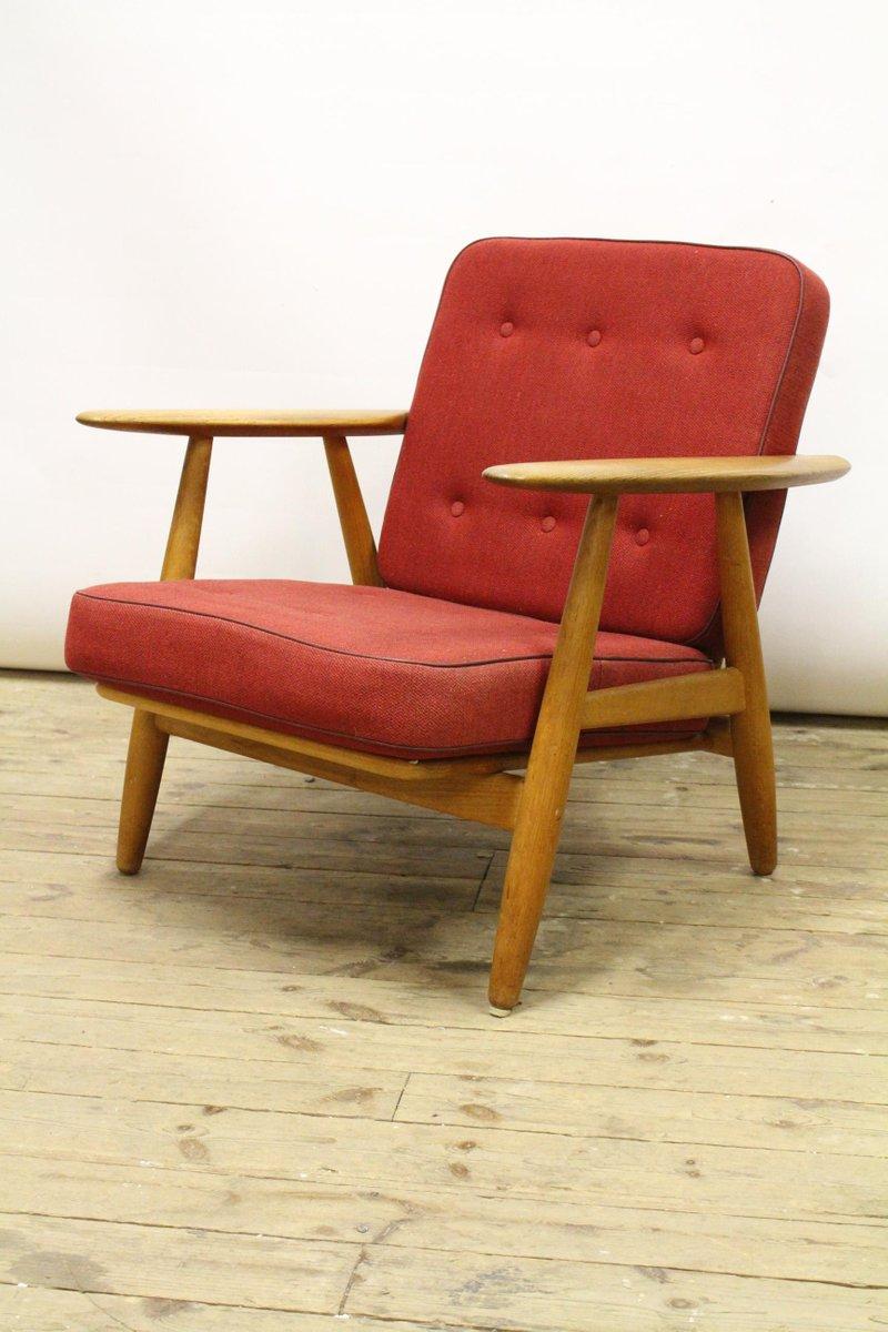 GE-240 Sessel aus Eiche von Hans J. Wegner für Getama, 1950er