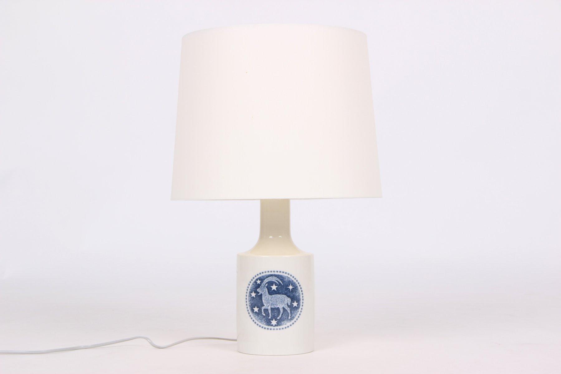 Vintage Modell 927240 Tischlampe aus Porzellan von Kaj Lange für Royal...