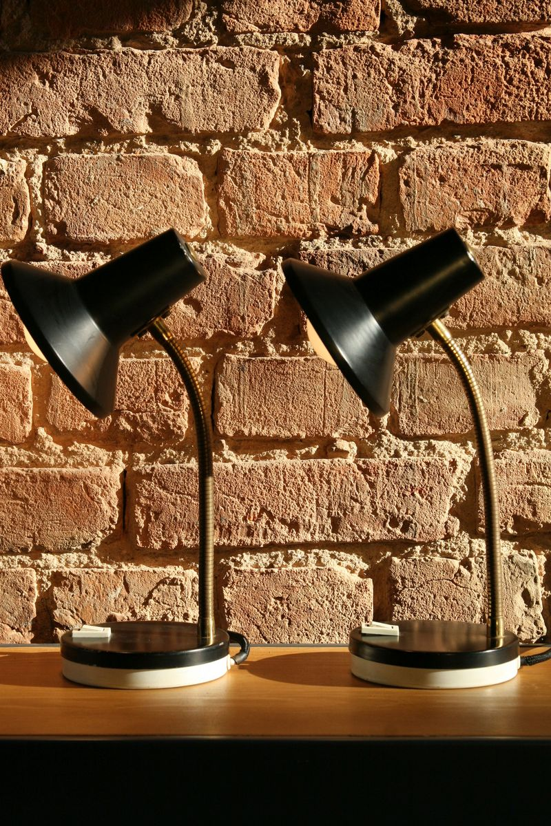 Mid-Century Tischlampen, 1970er, 2er Set