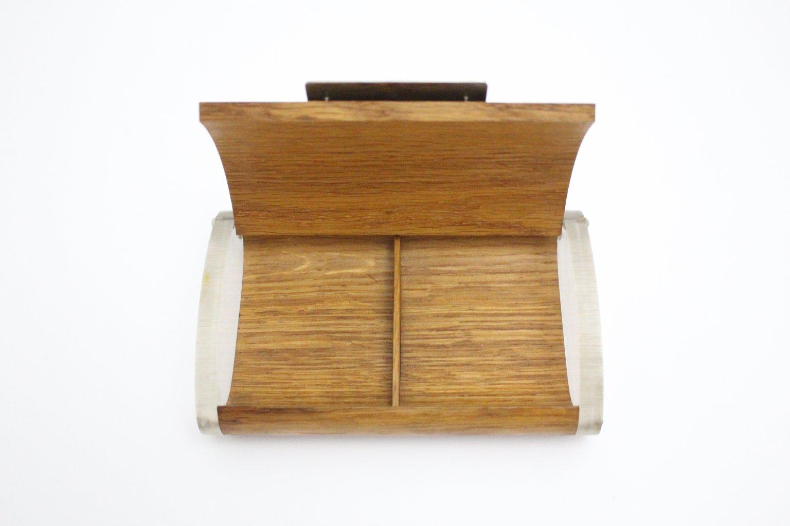 box aus plexiglas eiche von carl aub ck 1950er bei pamono kaufen. Black Bedroom Furniture Sets. Home Design Ideas