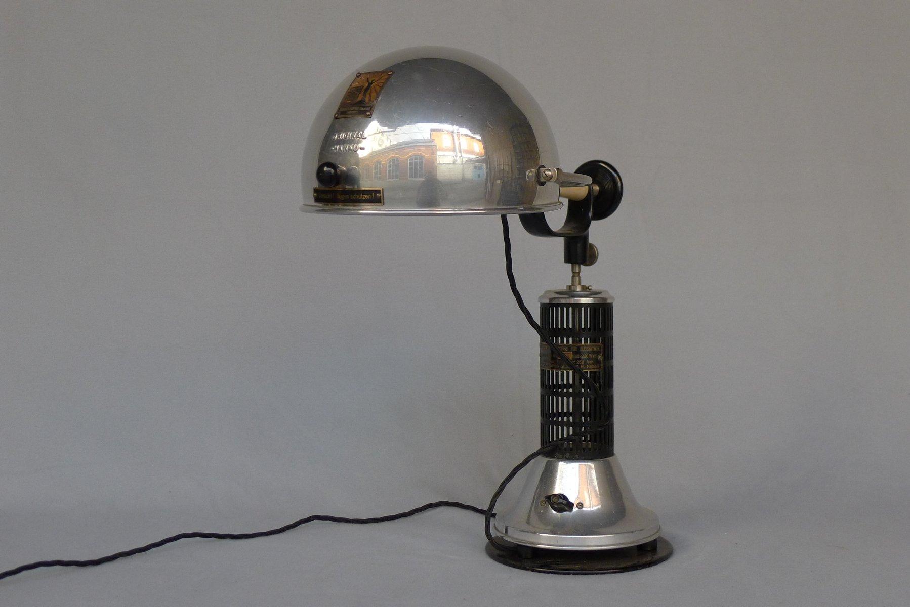 Art Deco Tischlampe von Hanau Heraeus, 1920er