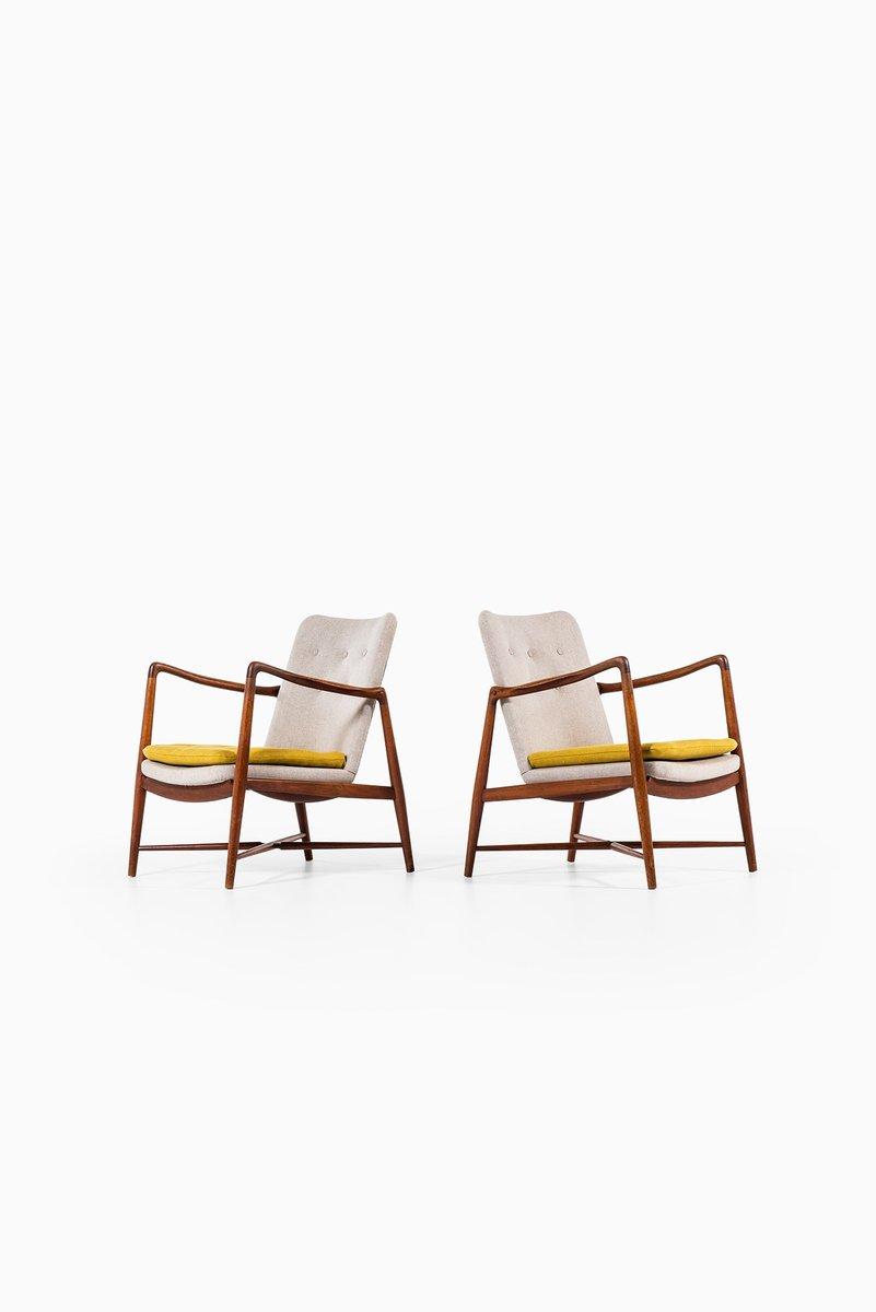 BO59 Sessel von Finn Juhl für Bovirke, 2er Set
