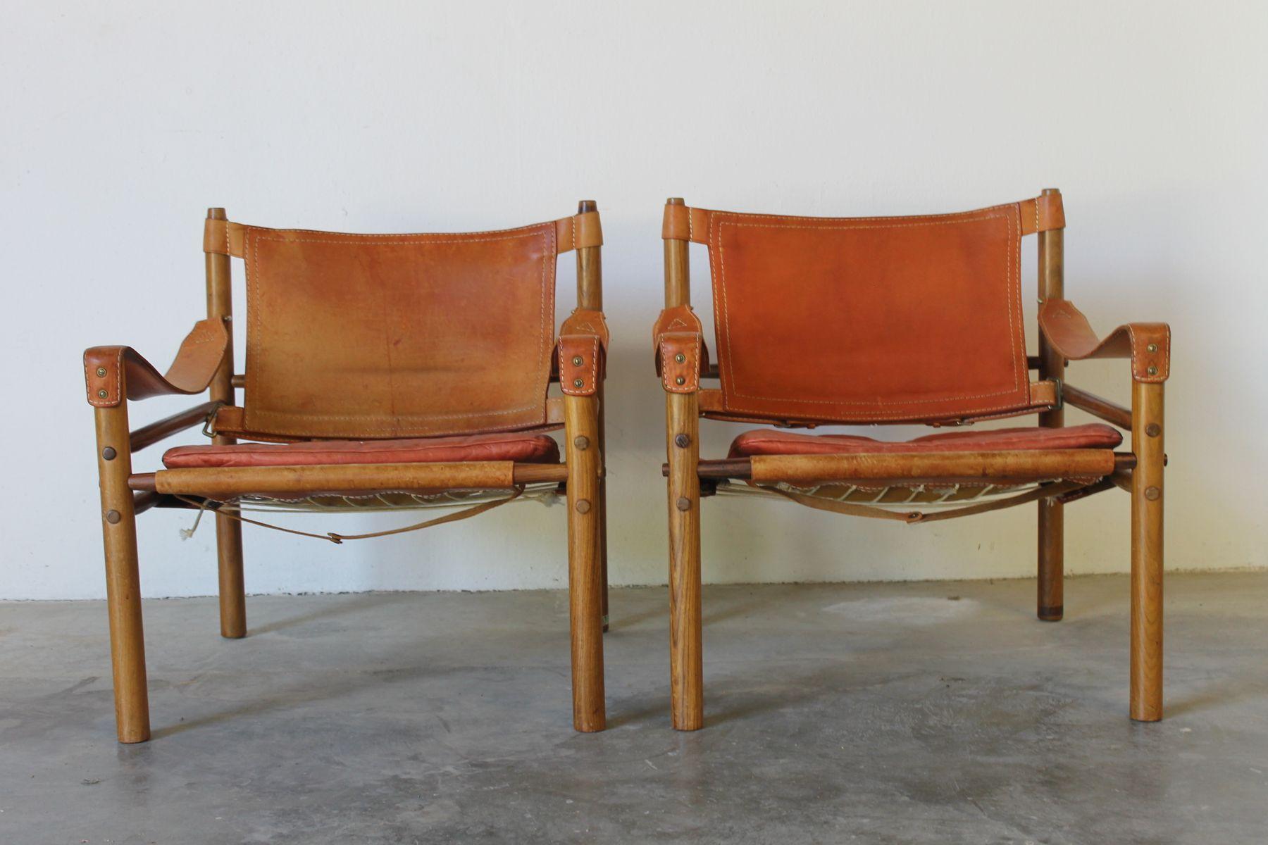 Sirocco Chairs aus Palisander & rotem Leder von Arne Norell, 1960er, 2...