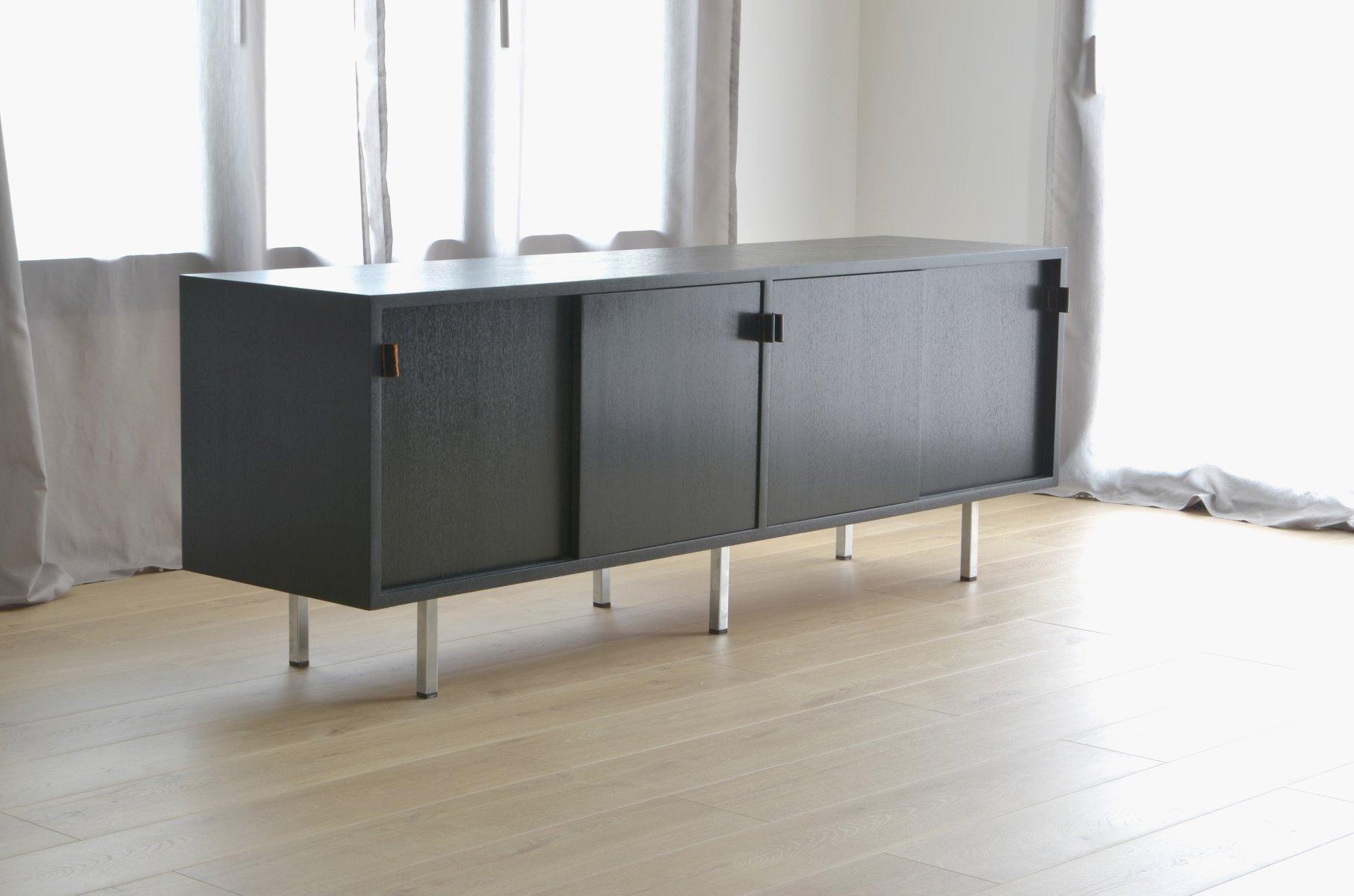 Schwarzes Sideboard von Florence Knoll Bassett für Knoll Inc.