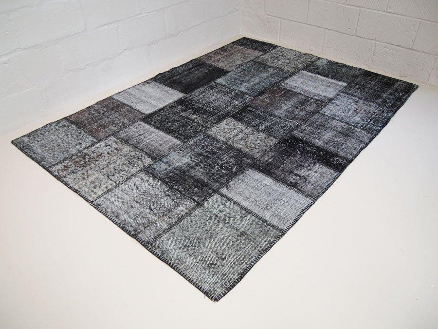 tapis patchwork teint vintage turquie 1950s - Tapis Patchwork