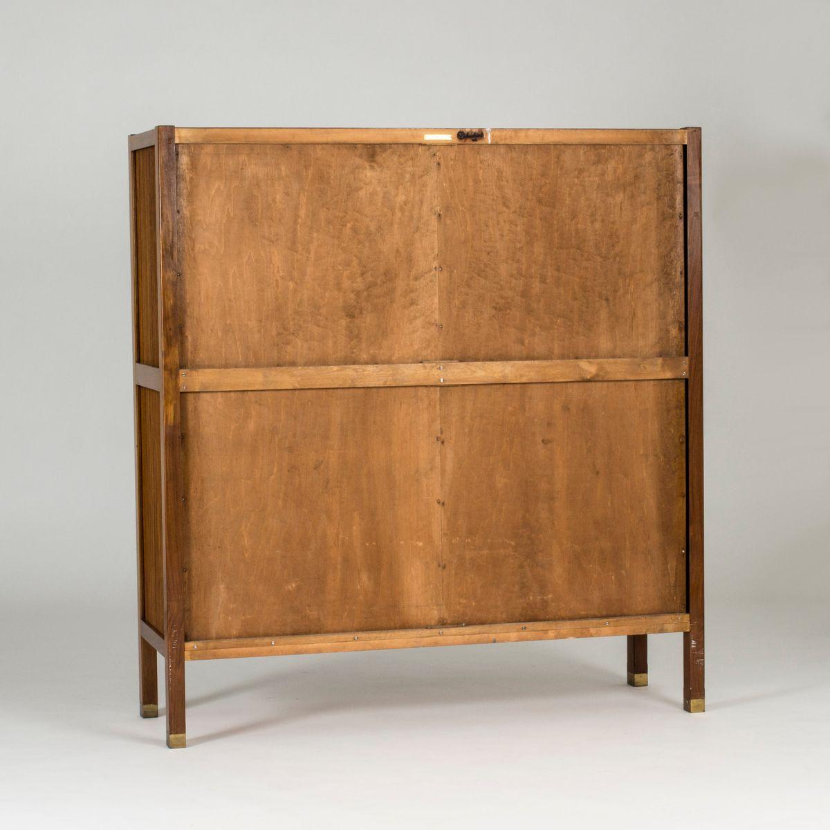 meuble en noyer par carl axel acking pour nordiska kompaniet 1950s