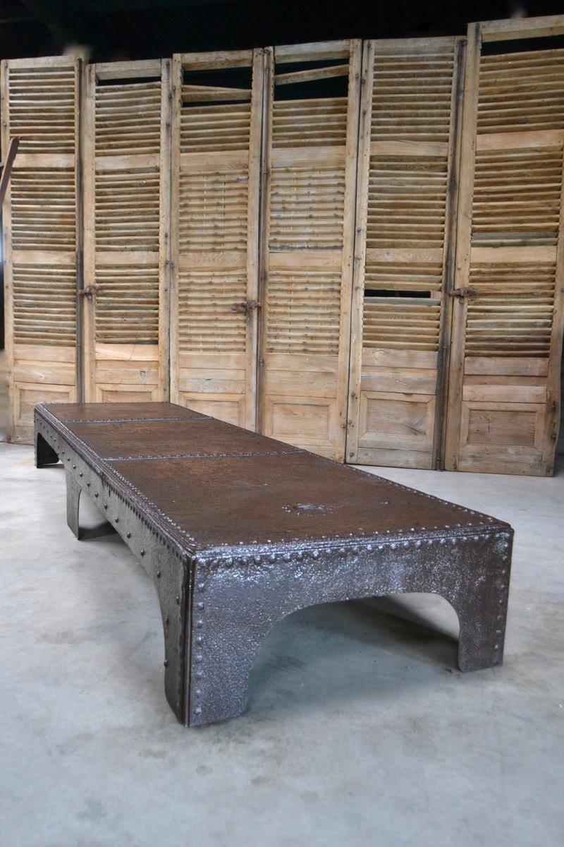 antiker industrieller couchtisch bei pamono kaufen. Black Bedroom Furniture Sets. Home Design Ideas