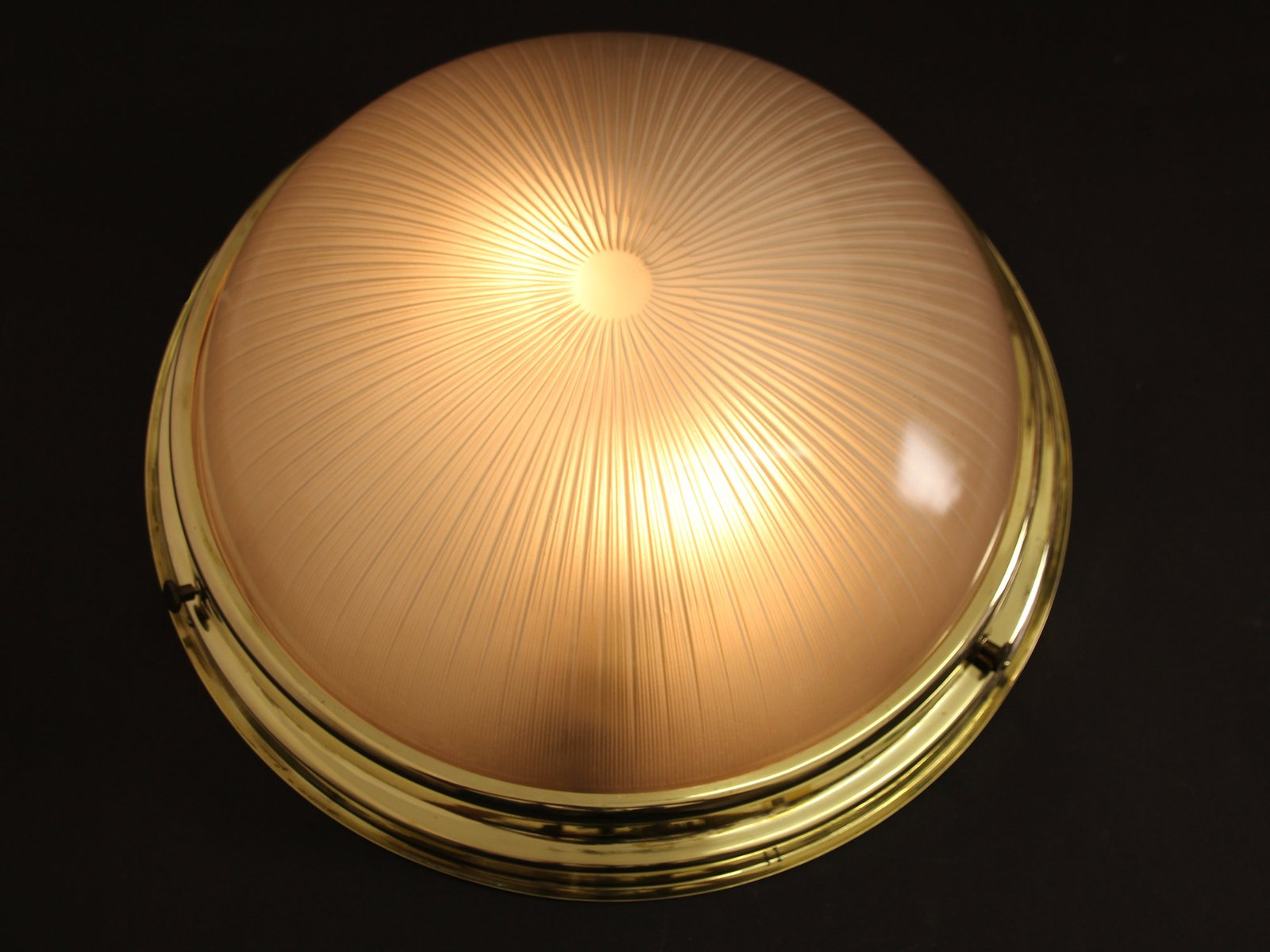 Vintage French Art Deco Ceiling or Wall Light from Holophane for ...
