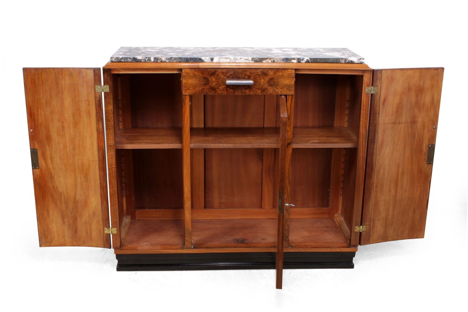 art deco walnut sideboard 1930s for sale at pamono. Black Bedroom Furniture Sets. Home Design Ideas