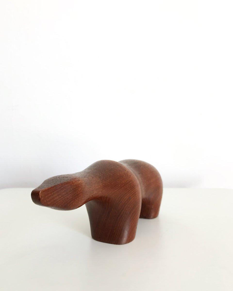 Escultura de oso polar de teca de Arne Tjomsland para Goodwill ...
