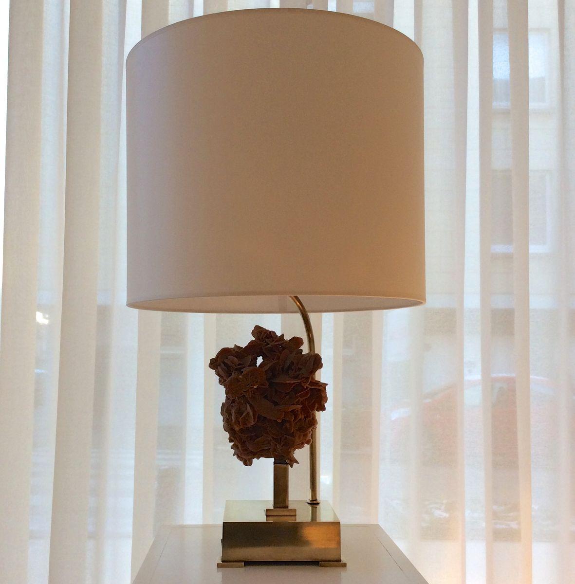 Belgische Tischlampe mit Wüstenblume, 1970er
