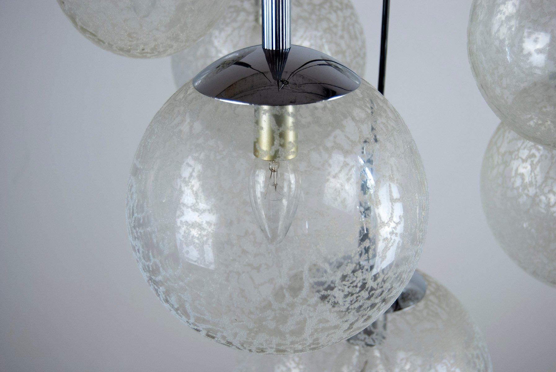 deckenlampe mit 7 glaskugeln 1970er bei pamono kaufen. Black Bedroom Furniture Sets. Home Design Ideas