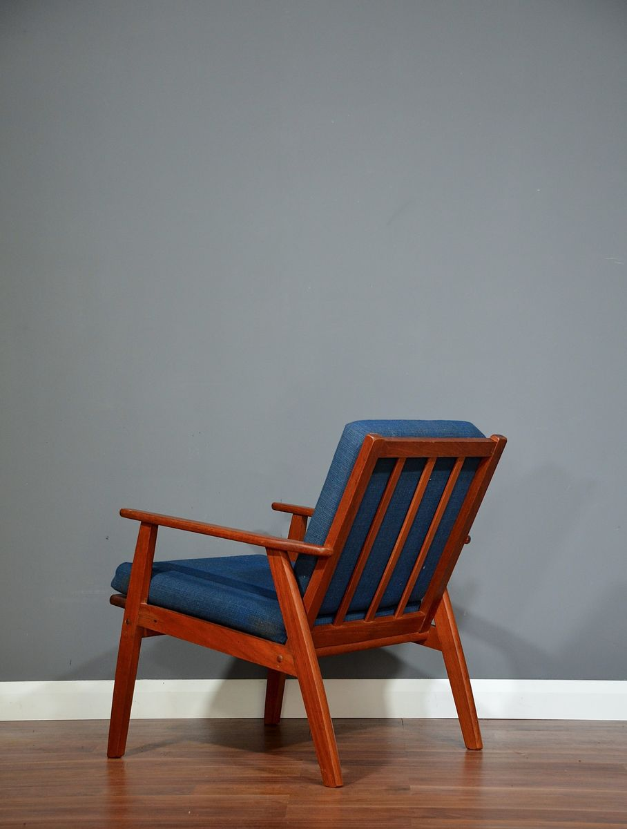 Vintage Scandinavian Teak Lounge Chair For Sale At Pamono