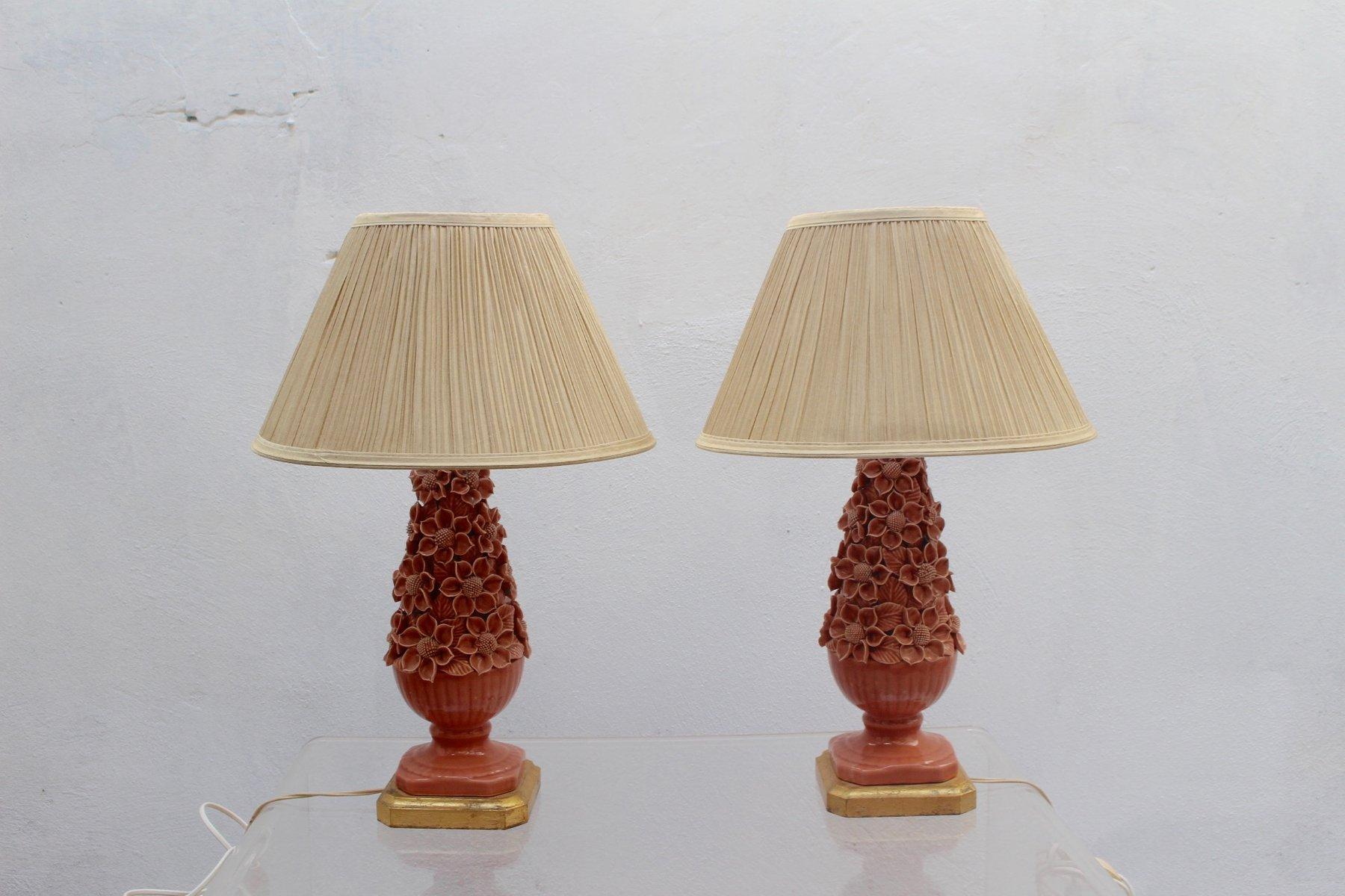 Tischlampen aus Keramik, 1950er, 2er Set
