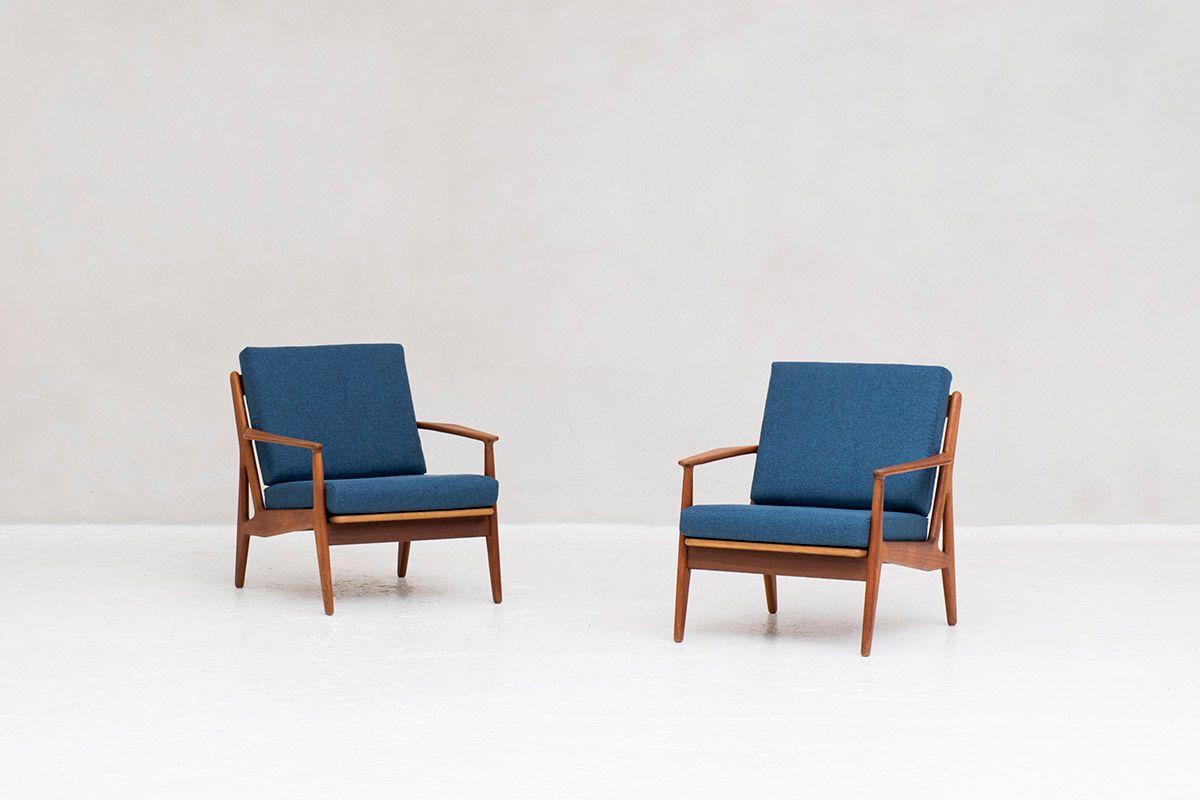 Modell 6 Sessel von Arne Vodder für Vamø Sonderborg, 1950er, 2er Set