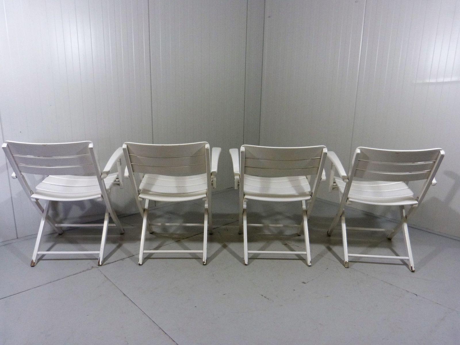 Table et Chaises de Jardin Pliantes Vintage en Bois en vente sur Pamono