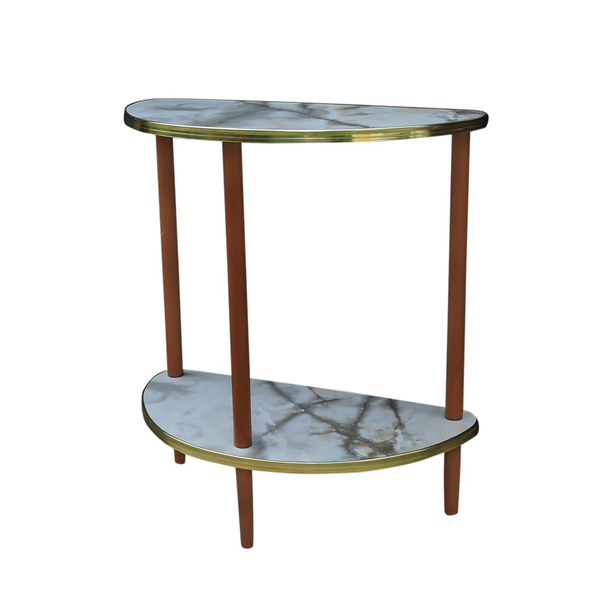 Mid Century Semi Circle Side Table 1960s