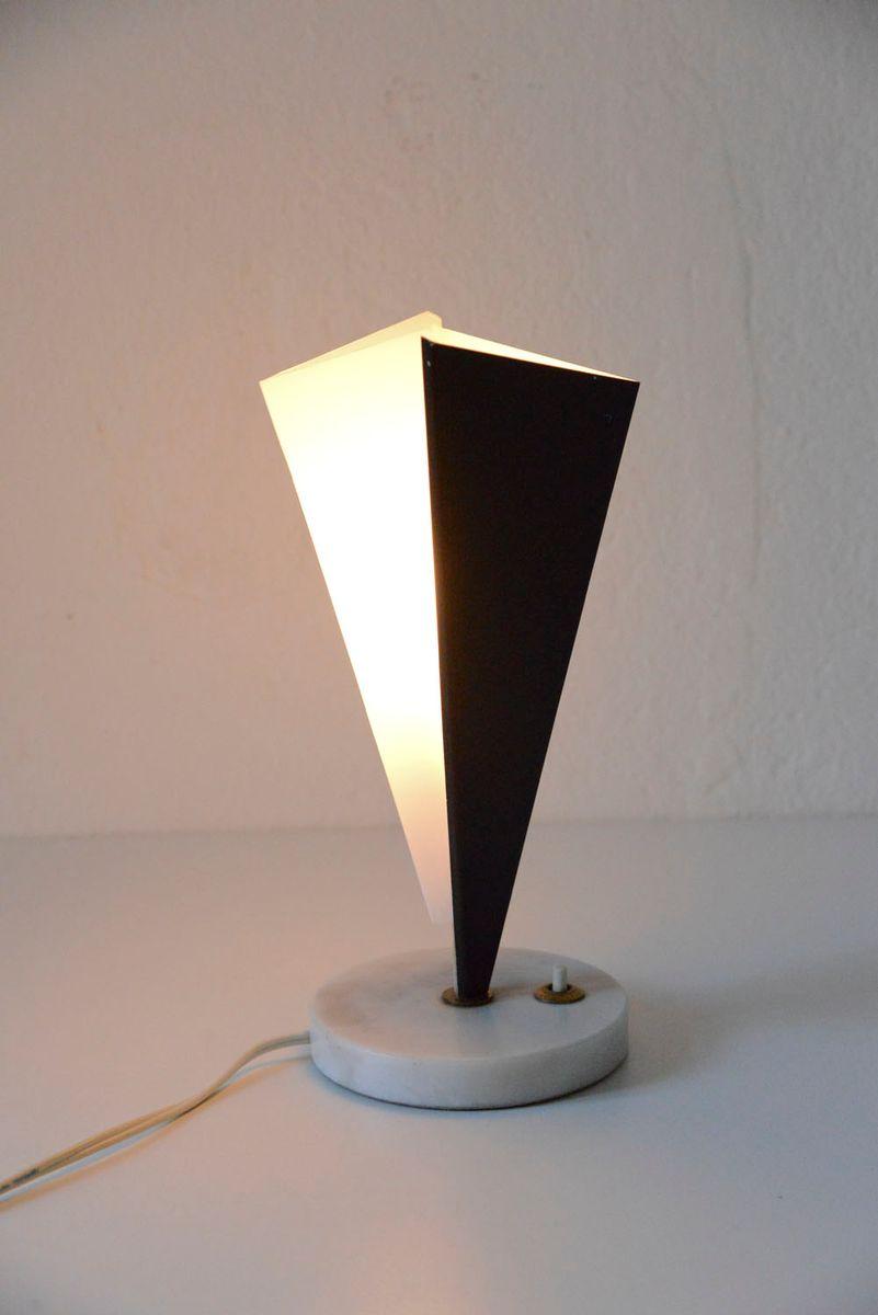skulptural italienische tischlampe in schwarz wei von stilux 1950er bei pamono kaufen. Black Bedroom Furniture Sets. Home Design Ideas