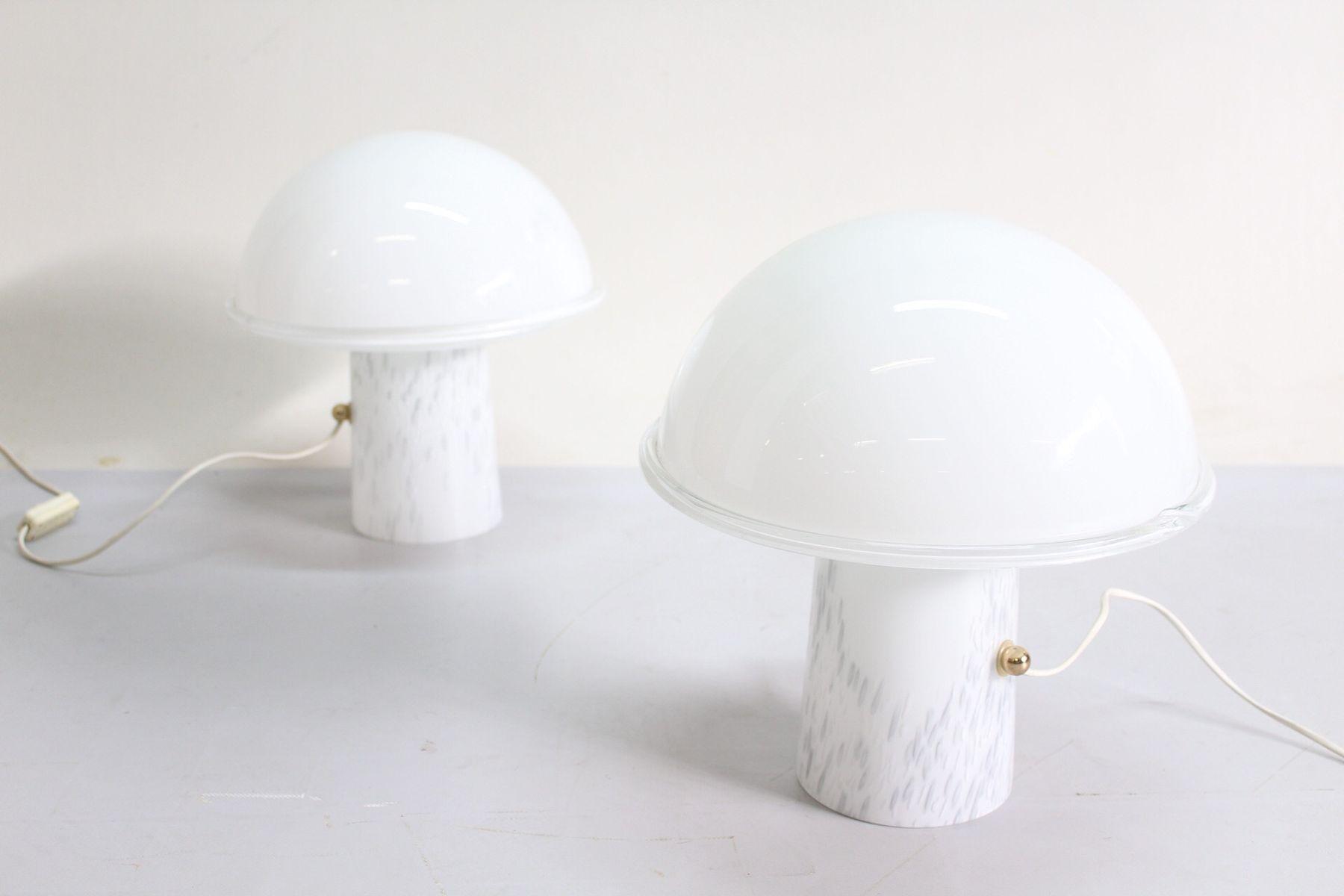 Tischlampe aus Muranoglas, 1970er, 2er Set