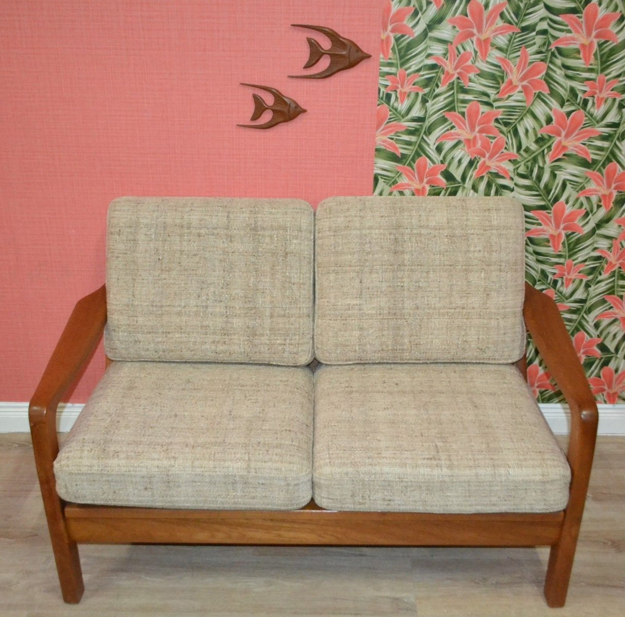 2-Sitzer Sofa aus Teak von Juul Kristensen für JK Denmark, 1960er