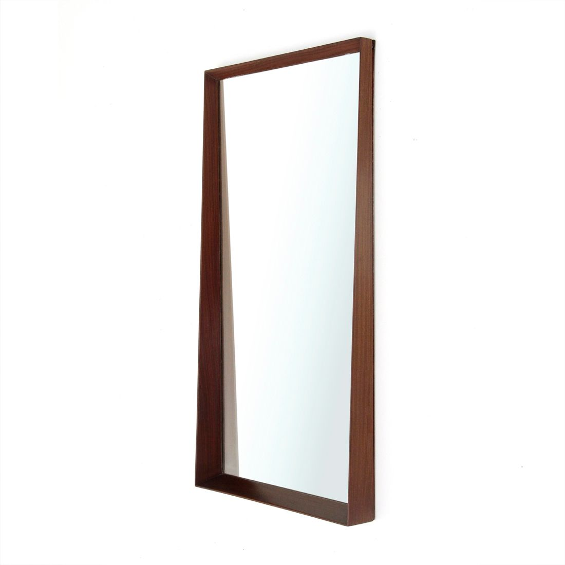 Italian Mirror with Teak Frame, 1950s for sale at Pamono