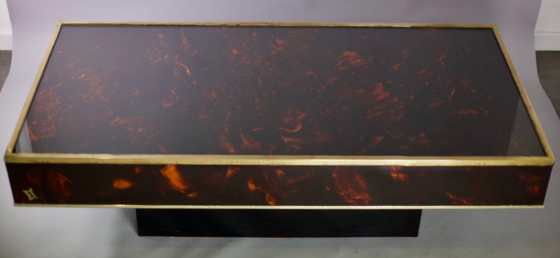 Couchtisch von Eric Maville & Jean-Claude Mahey für Maison Roméo, 1970...