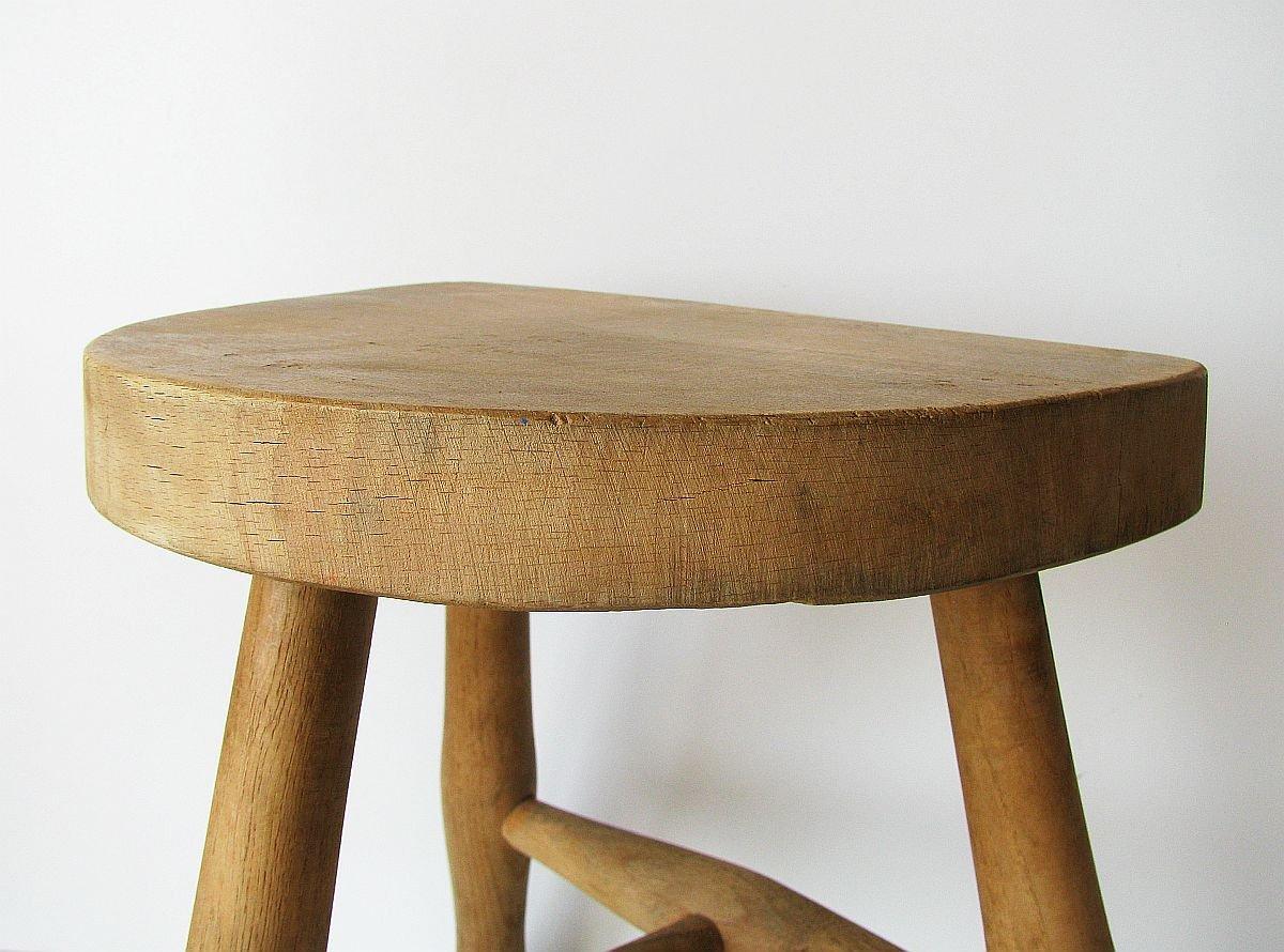 Sgabello vintage in legno di toledo in vendita su pamono