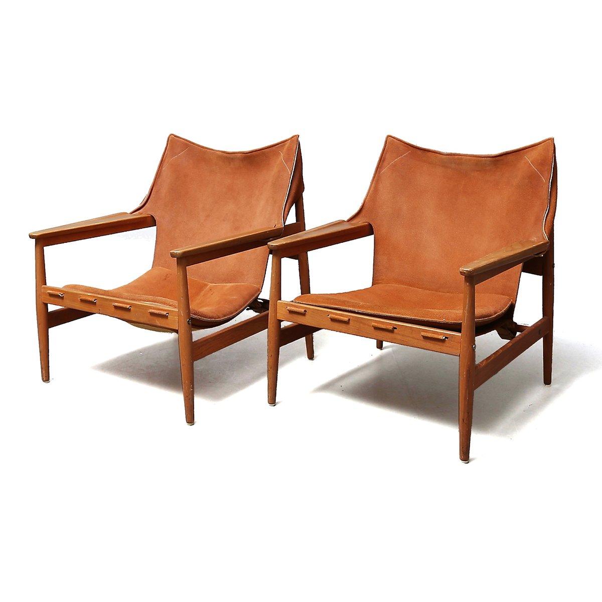 Schwedische Sessel aus Kunstleder von Hans Olsen für Viska Möbler, 196...