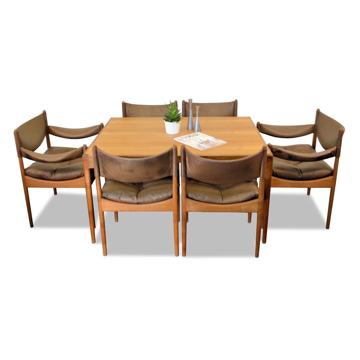 Vintage Danish Design Oak Dining Set By Kristian Vedel For Søren Willadsen  Møbelfabrik