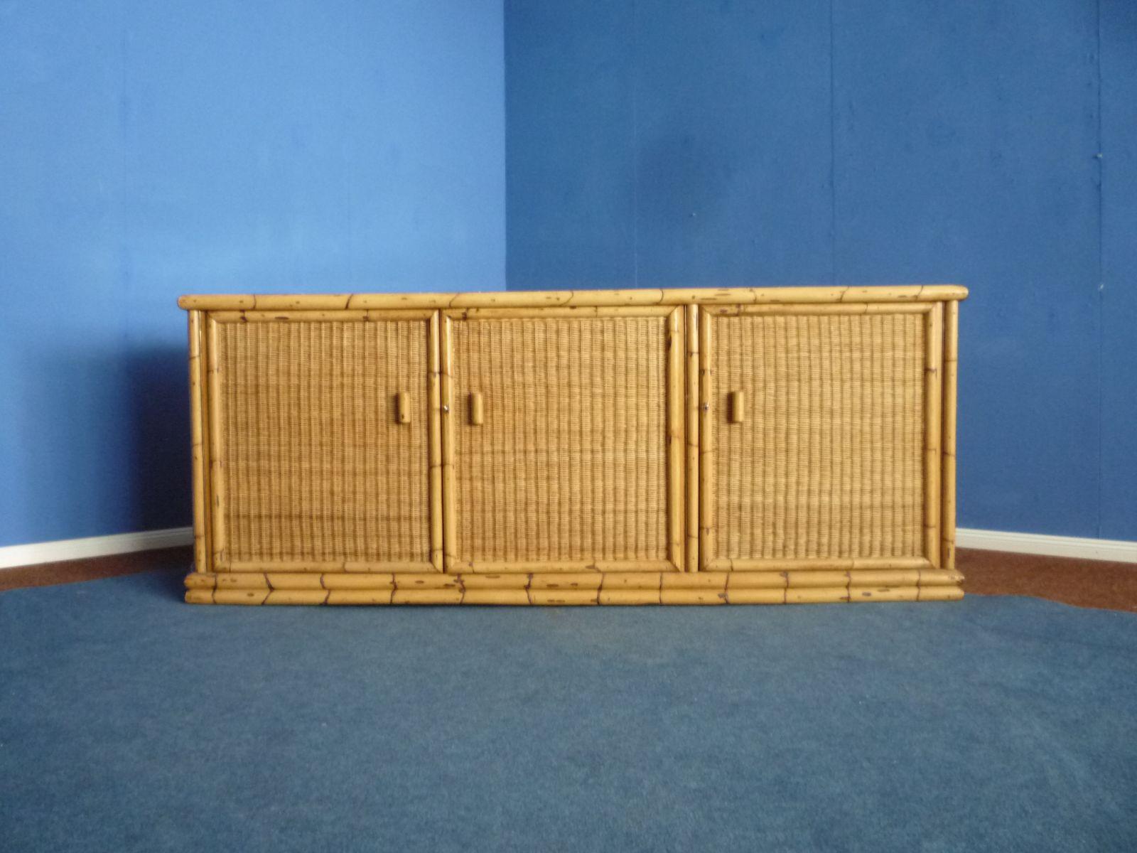 Sideboard aus Rattan & Bambus von Arco, 1940er
