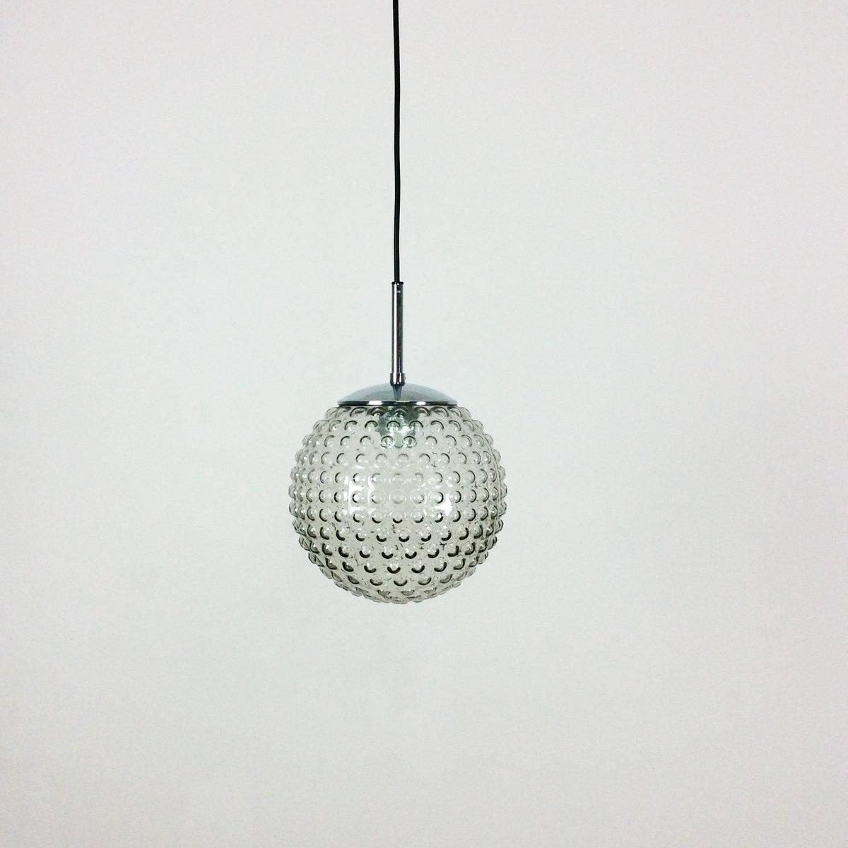 Hängelampe aus Sideglas von Motoko Ishii & Rolf Krüger für Staff Light...