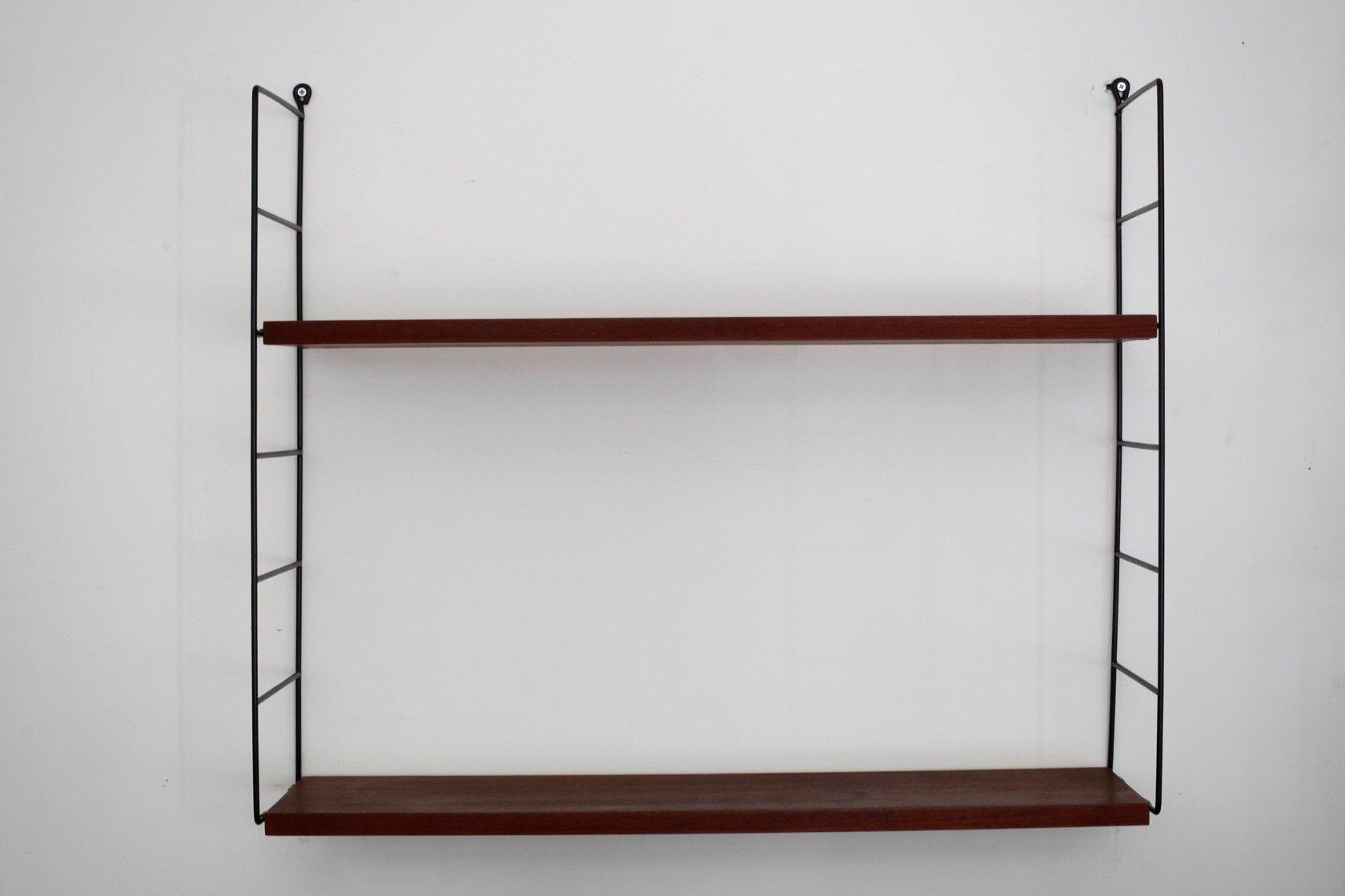 Mid Century Wall Shelf Unit By Kajsa Nils Nisse Strinning For String