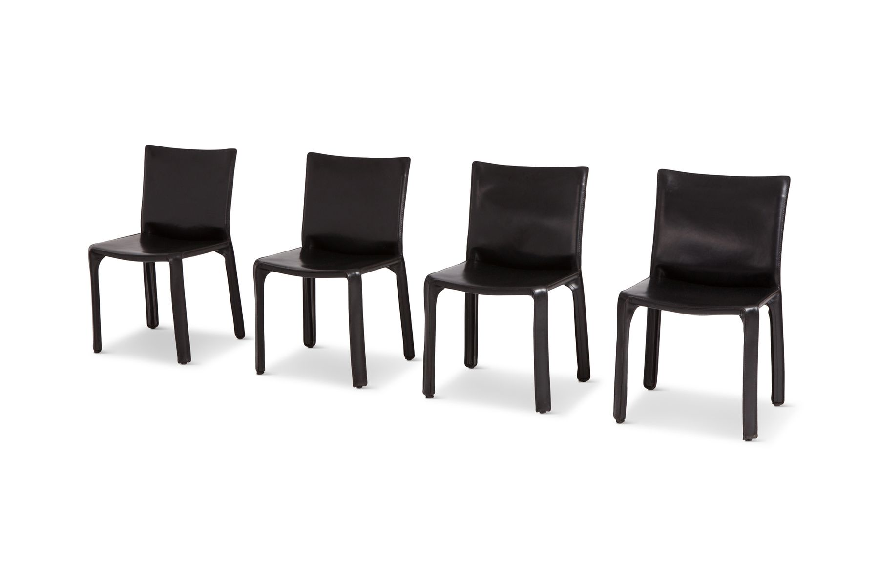 Outstanding Black Leather Cab Chairs By Mario Bellini For Cassina 1970S Set Of 4 Ocoug Best Dining Table And Chair Ideas Images Ocougorg