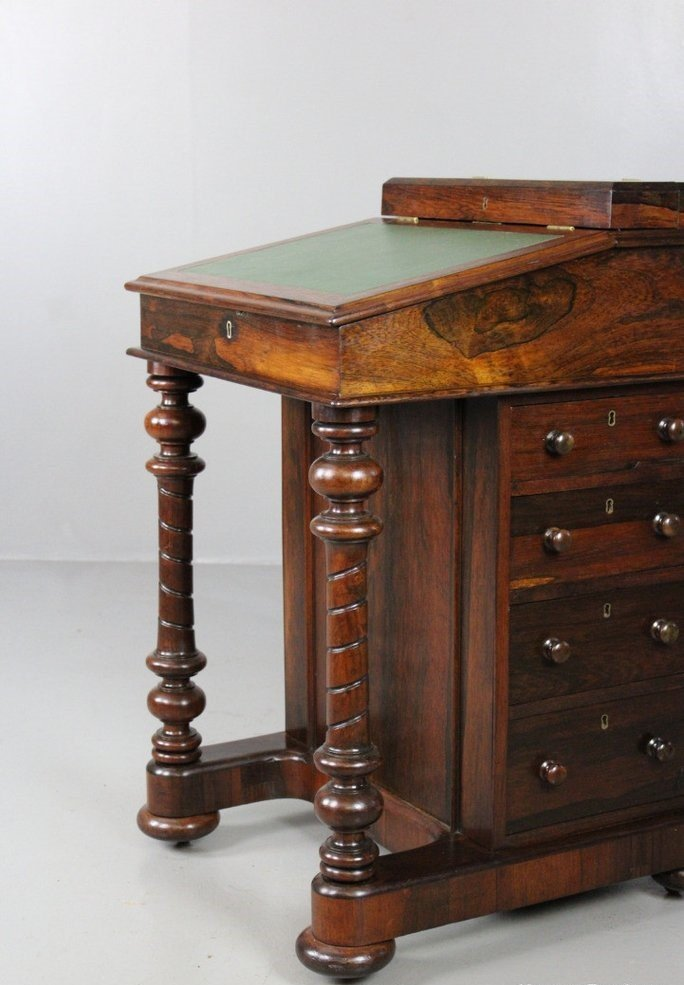 Antique Rosewood Writing Desk with Drawers from Parkinsons Cabinet Makers - Antique Rosewood Writing Desk With Drawers From Parkinsons Cabinet