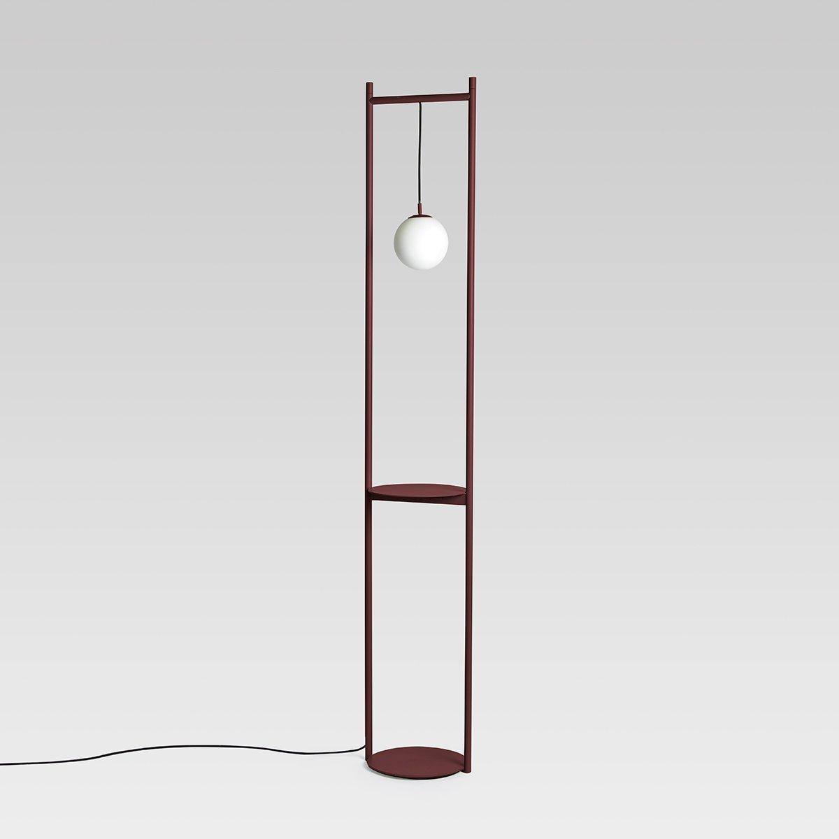 Heis Stehlampe in Bordeauxrot von Matteo Fiorin...