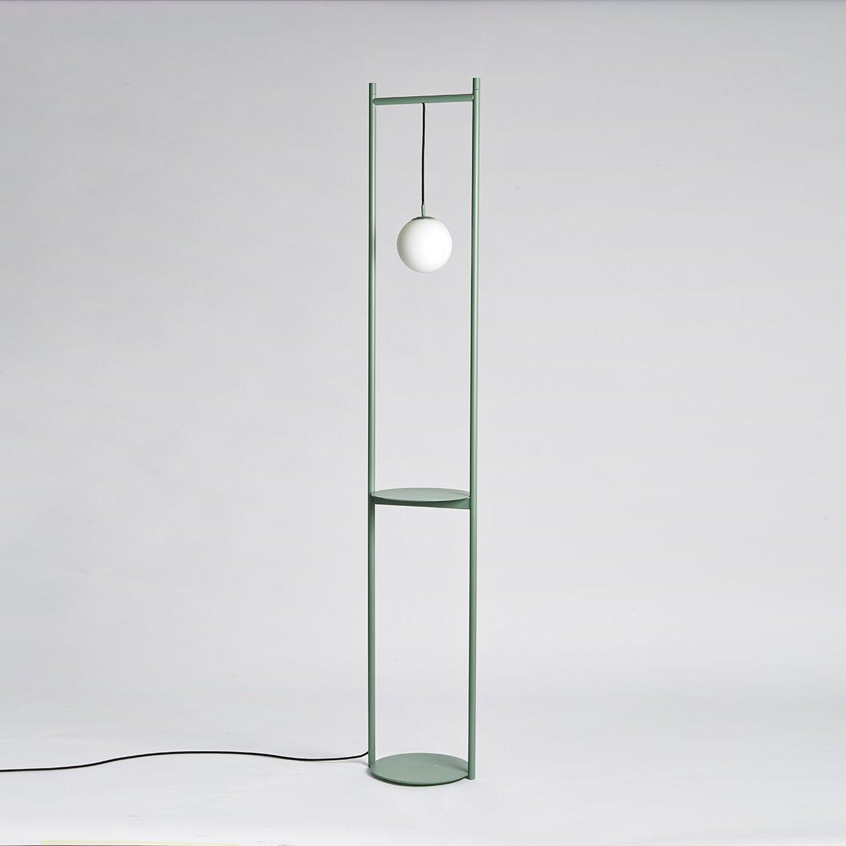 Heis Stehlampe in Olivgrün von Matteo Fiorini f...