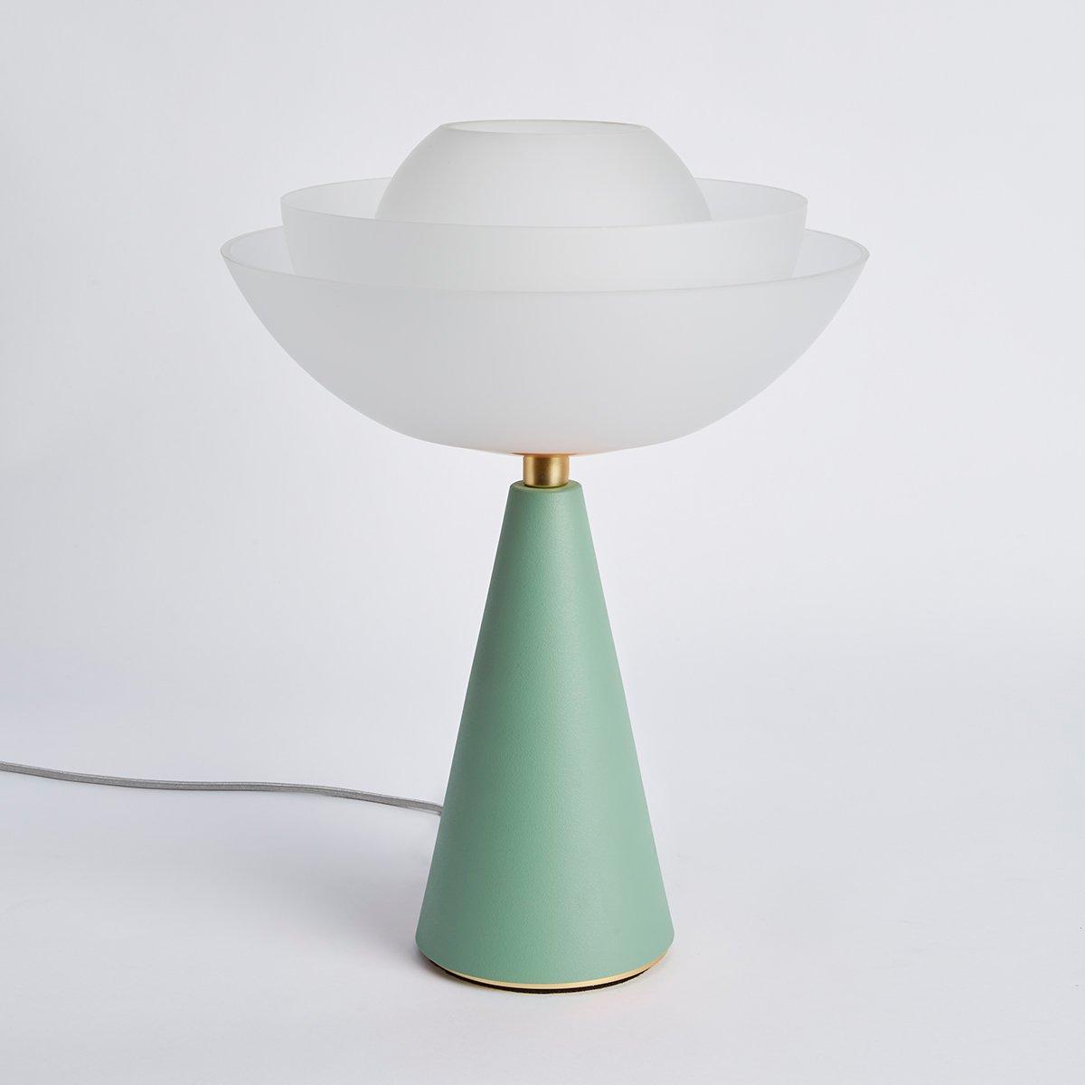 Lotus Tischlampe in Olivgrün von Serena Confalonieri für Mason Edition...