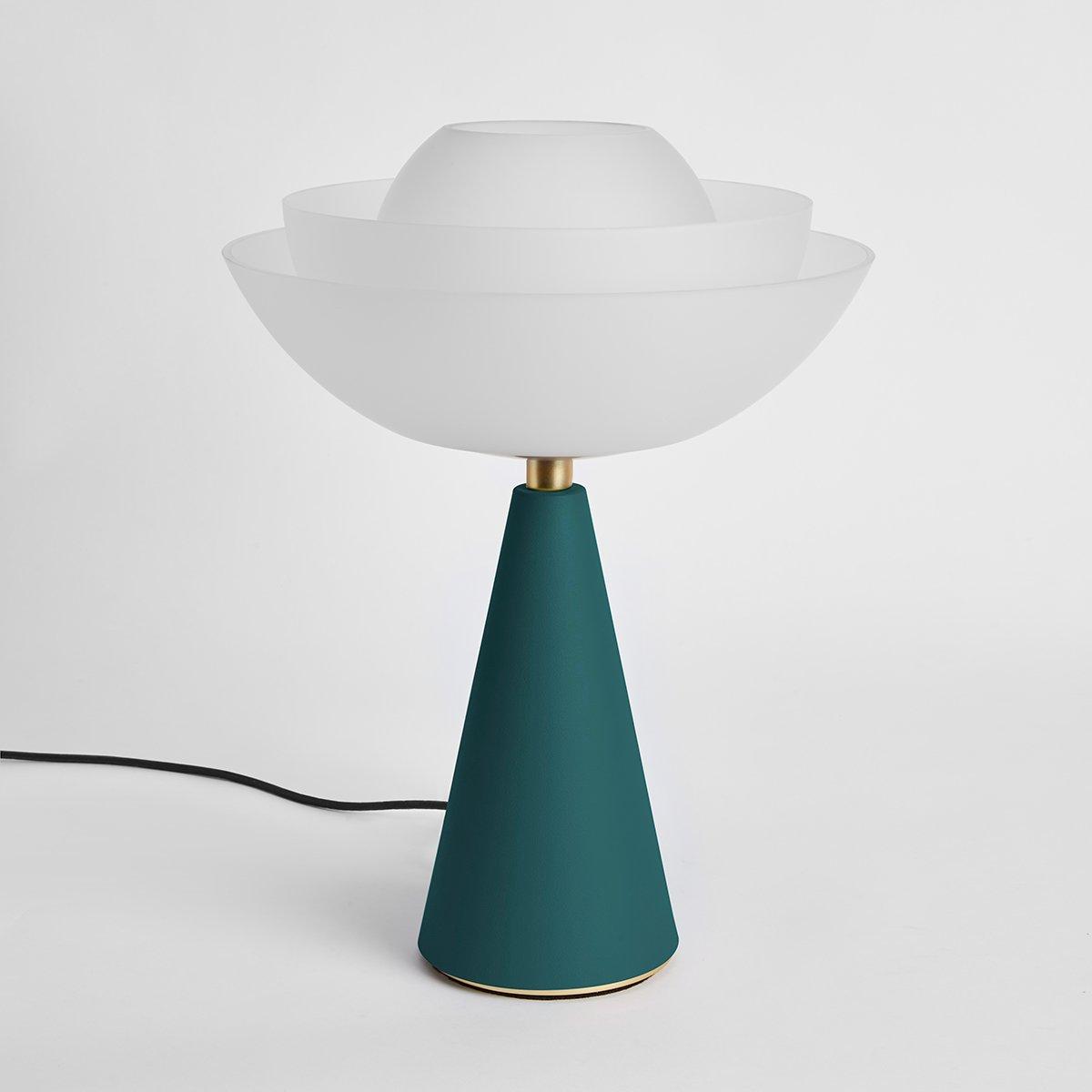 Lotus Tischlampe in Petrolblau von Serena Confalonieri für Mason Editi...