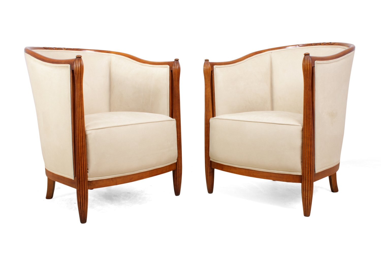 Art Deco Sessel von Paul Folllot, 1920er, 2er Set