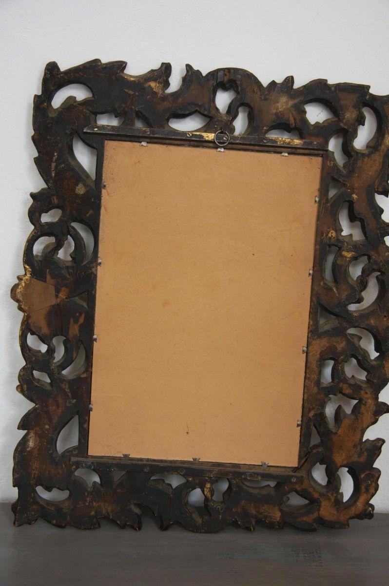 antiker spiegel aus vergoldetem holz bei pamono kaufen. Black Bedroom Furniture Sets. Home Design Ideas