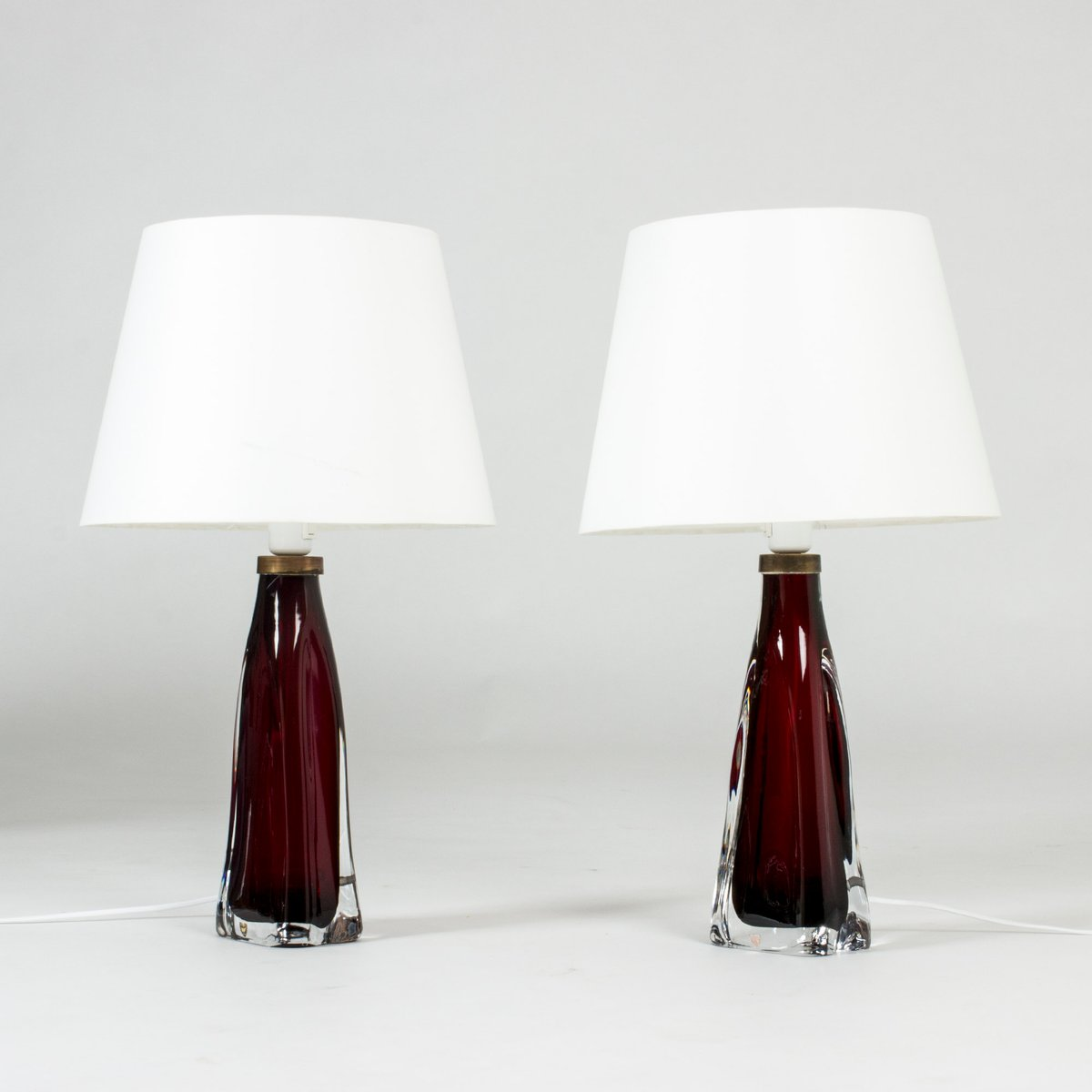 Mid Century Glass Table Lamps By Carl Fagerlund For Orrefors 1950s