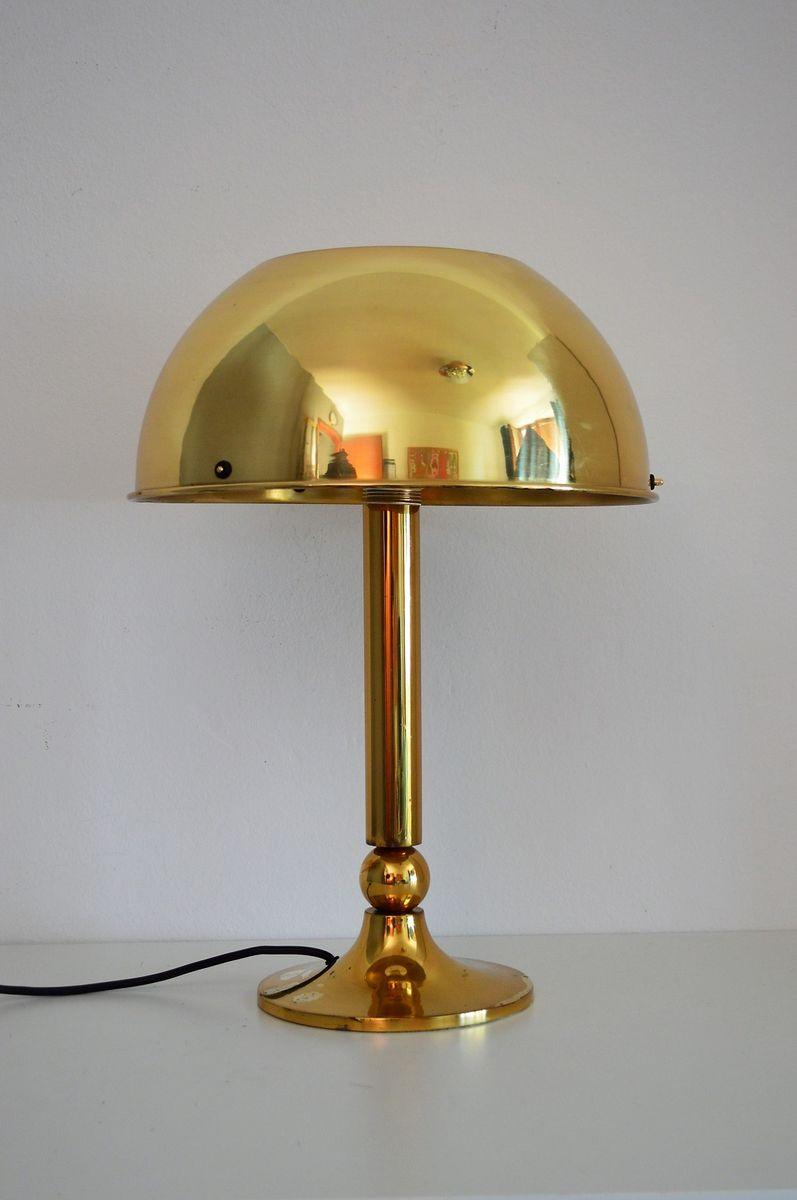Deutsche Tischlampe aus Messing von Florian Schulz, 1970er