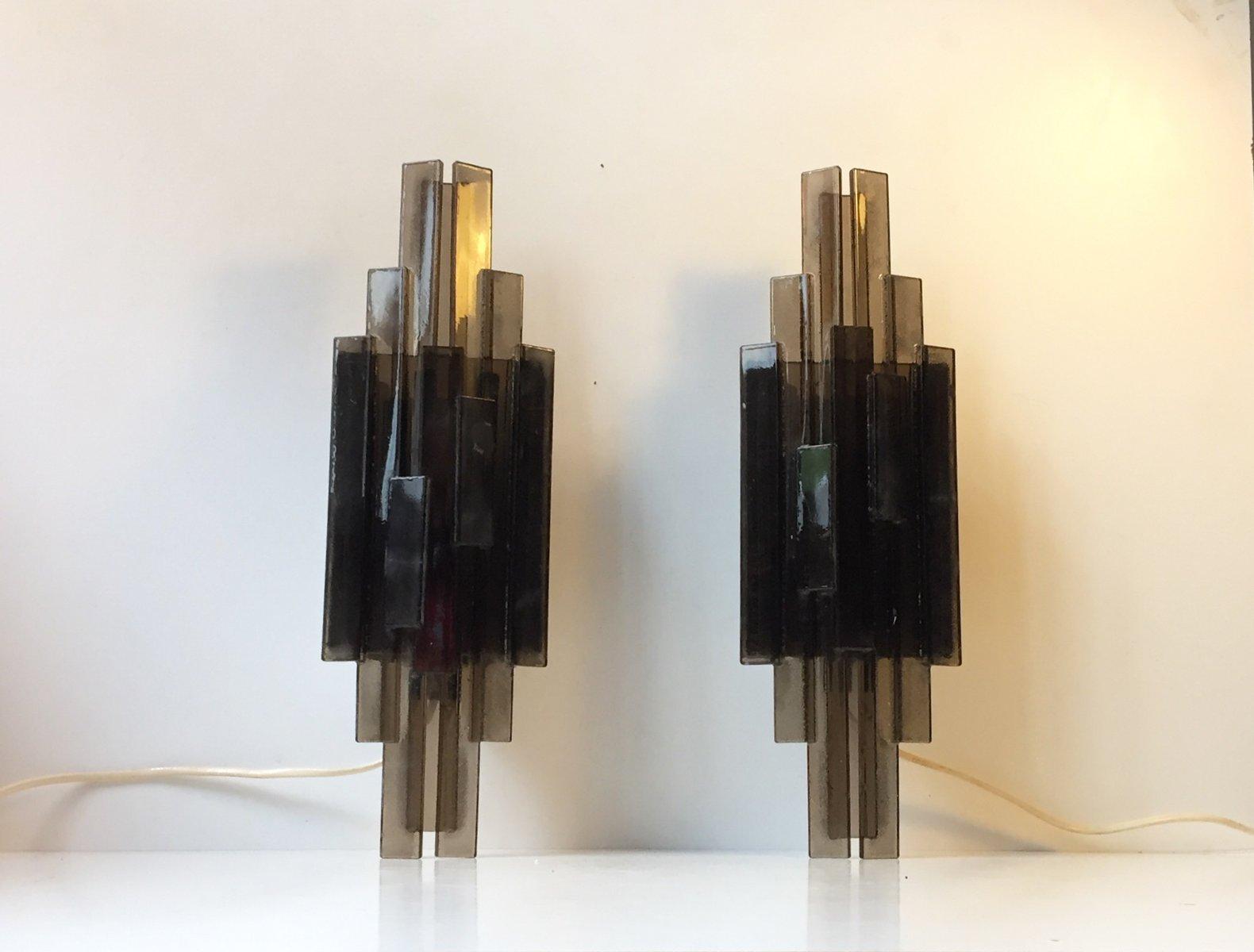 Applique in acrilico grigio di claus bolby per cebo industri