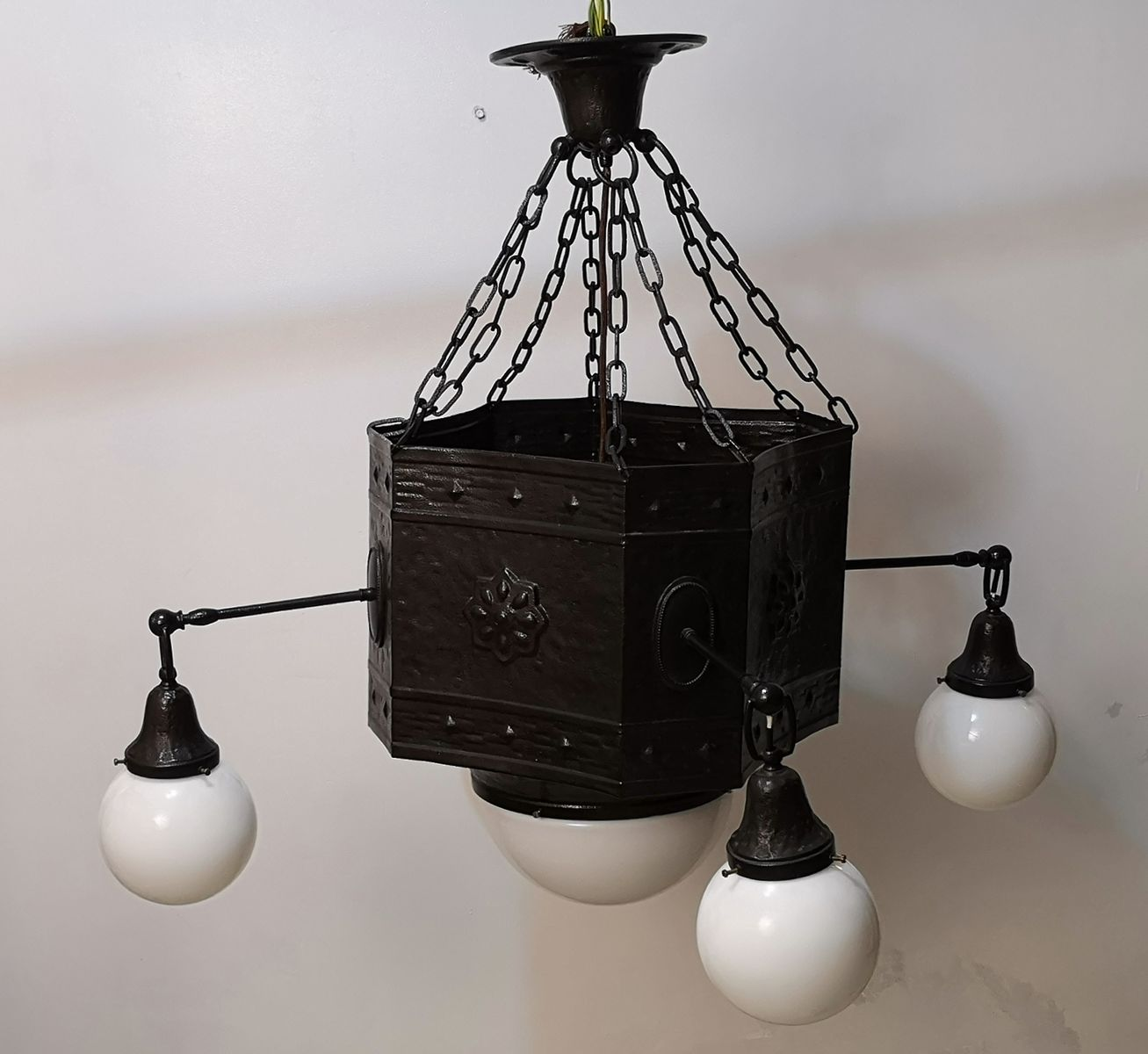 Large antique ceiling lamp for sale at pamono large antique ceiling lamp aloadofball Gallery