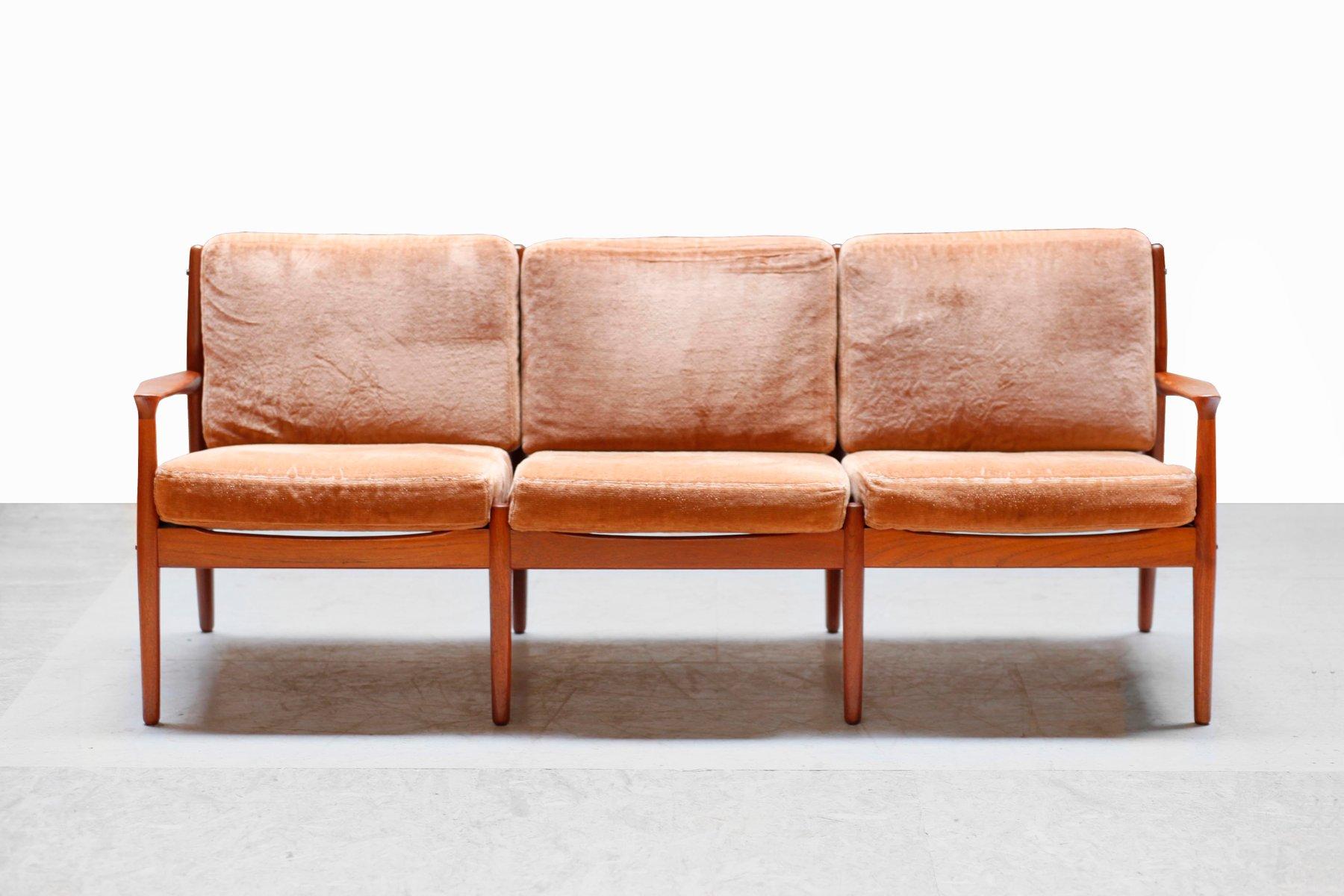 d nisches sofa von grete jalk f r glostrup 1960er bei pamono kaufen. Black Bedroom Furniture Sets. Home Design Ideas