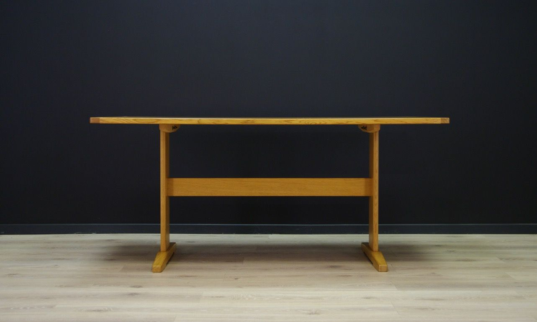 Dänischer Vintage Esstisch aus Esche