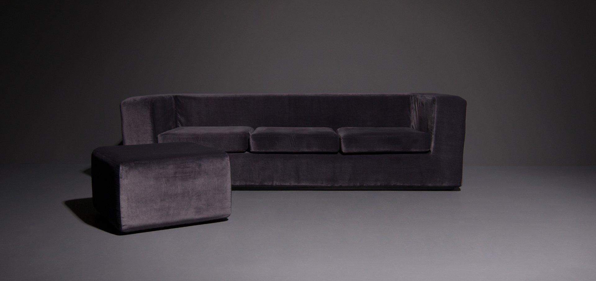 throw away 3 sitzer mid century sofa hocker von willie landels f r zanotta bei pamono kaufen. Black Bedroom Furniture Sets. Home Design Ideas