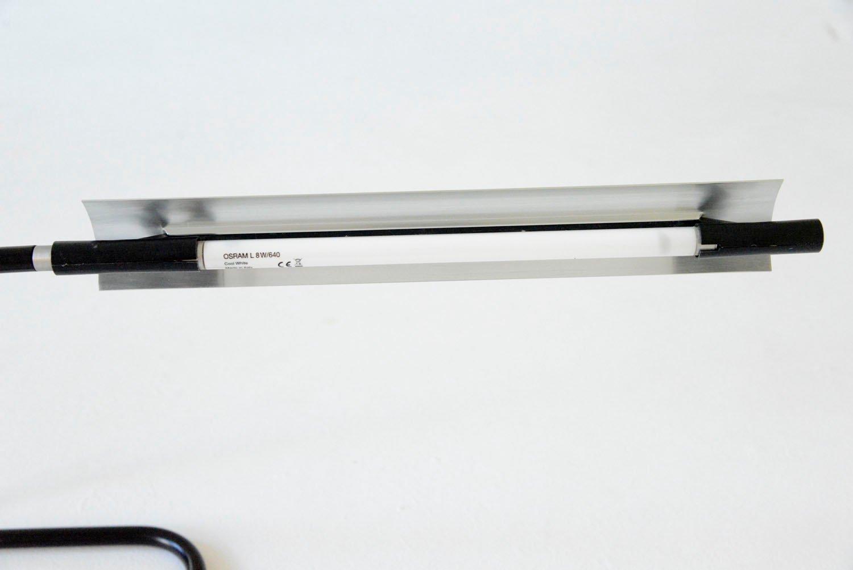 Lampada da tavolo tubino di achille castiglioni per flos 1974 in