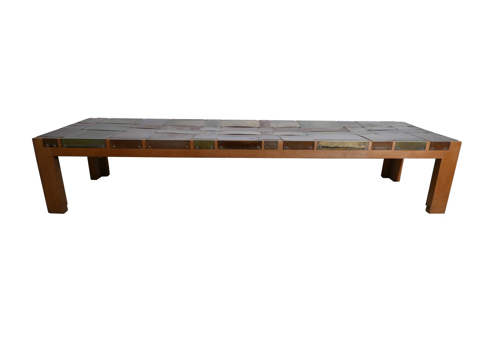 Wood Metal Bench By Angela Ardisson For Sale At Pamono - Angela coffee table